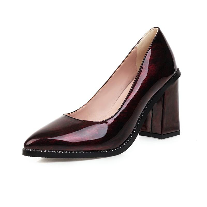 Große Größe einfache spitze Schuhe Damen High Heels Frauen Schuhe Frau Pumps