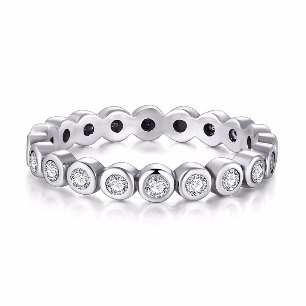 Größe 5-10 gibt hochwertigen original 925 Sterling Silber Weiß Starshine CZ Diamant-Finger-Ring Echter Schmuck für Frauen Wedding Gift