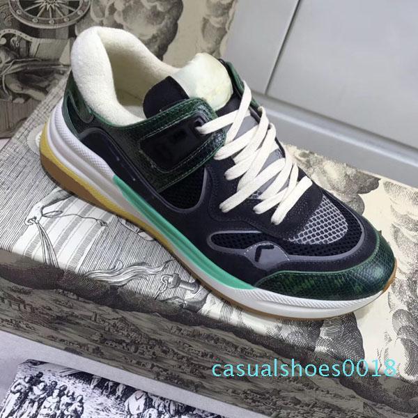r2 nuovo lusso progettisti delle scarpe da tennis pattini inferiori rossi Low Cut Suede Shoes picco di lusso per uomini pattini della festa nuziale di cristallo in pelle scarpe da tennis c18