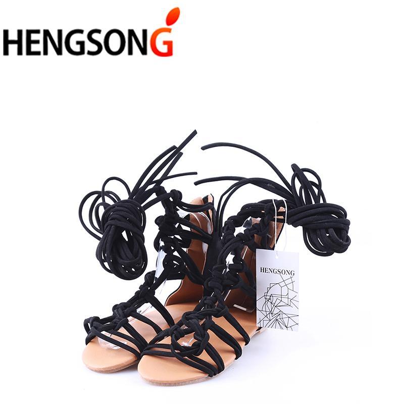 الأزياء طول الركبة مثير عبر التعادل صندل المصارع المرأة الصنادل المرأة الصليب الشريط طويل القامة أحذية الصنادل التمهيد 876620