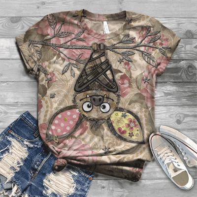 Casual Camiseta para mujer de la manera del verano de las mujeres Impreso Camisetas Tops calidad de las señoras de Calle Tees Ropa tamaño S-3XL