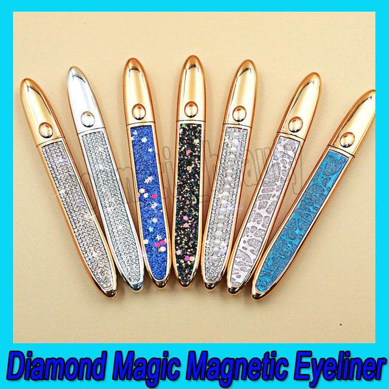 0,2020 Алмазные Магия Магнитная Eyeliner Продолжительный Liquid Eyeliner Сильные всасывания Магнитный Ресницы Eye Liner 3 цвета освобождает перевозку груза