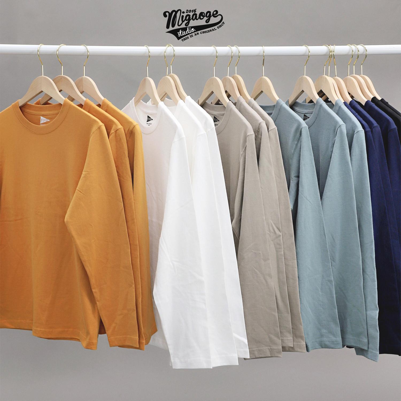 Automne et manches longues amincissent hiver nouveaux hommes col rond couleur unie simple coton épais coton T-shirt chemise de base de base