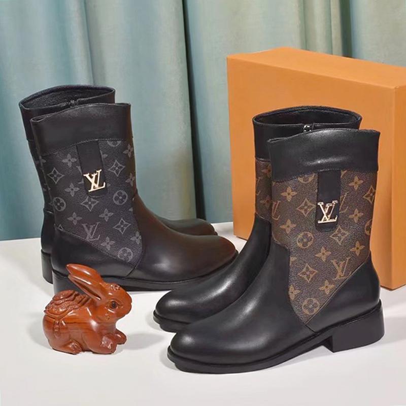 Zapatos para mujer Shaspet Botas de invierno Botas Femmes Señora zapatos de lujo Botas de Mujer moda para mujer zapatos de la cremallera de alta -Top Lunkal Chaussures De