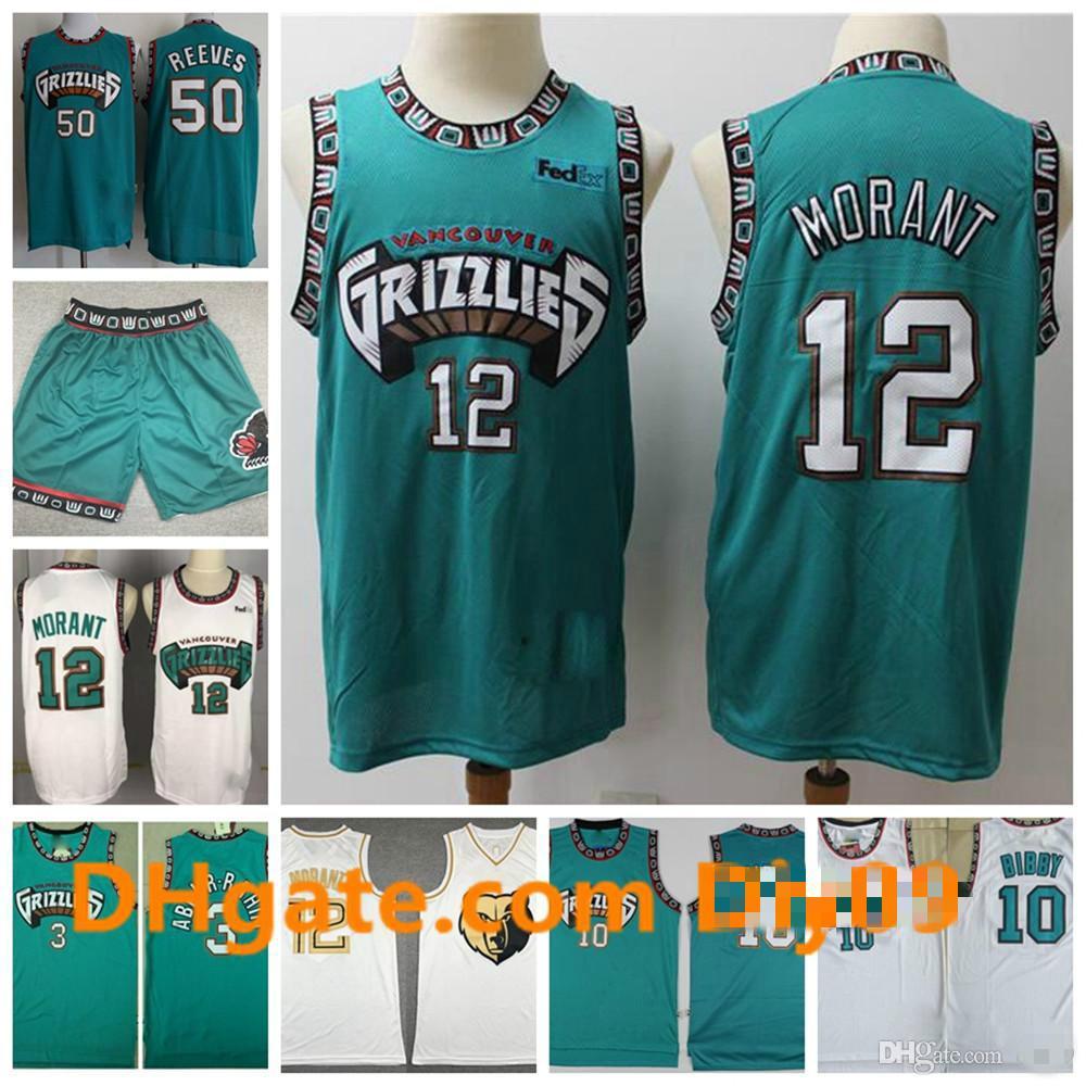 12 ja morant hwcMemphis.Grizzlies.Retrocesso Zach Randolph Vintage 10 Mike Bibby 3 Shareef Abdur-Rahim Retro Basketball Jerseys