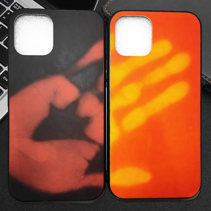 Gute Qualität Temperatur Gehaeuse Farbe ändern Cases für iPhone 11 Pro Max x xs max xr 6 7 8 Plus Thermische Wärme Sensing Verfärbungs Cover-Rückseite