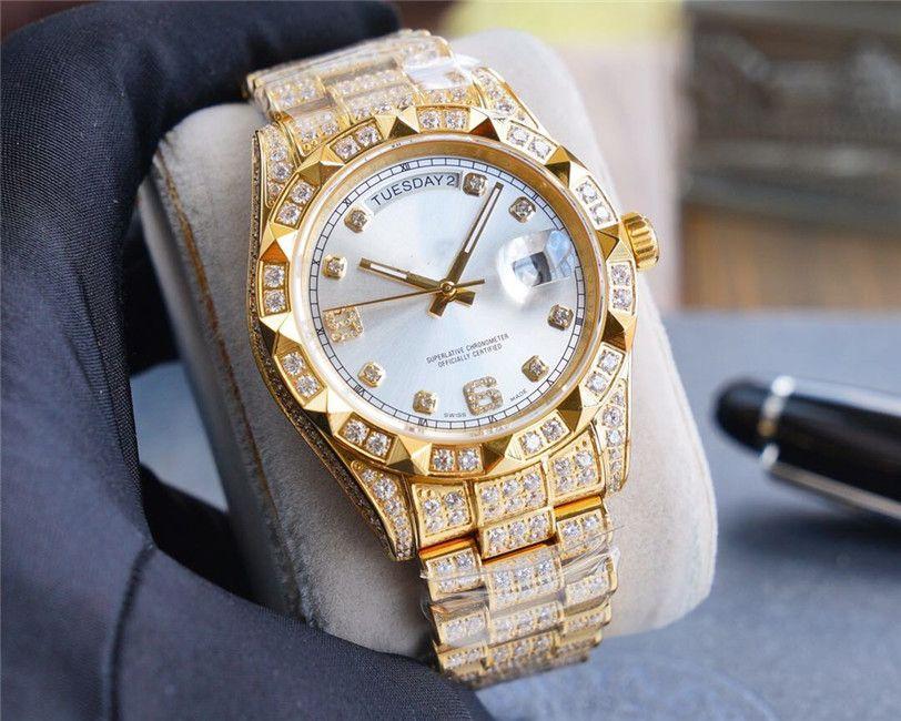 В 2020 Качество мужской размер модели 41mmX12mm904L прецизионные стальные Авгиевы механические часы водонепроницаемые мужские часы наручные часы