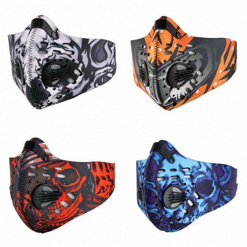 In bicicletta maschere carbone attivo antipolvere in bicicletta Maschera Anti-Pollution della bicicletta Outdoor Training Mask Visiera EEA1821 0Fg5 #