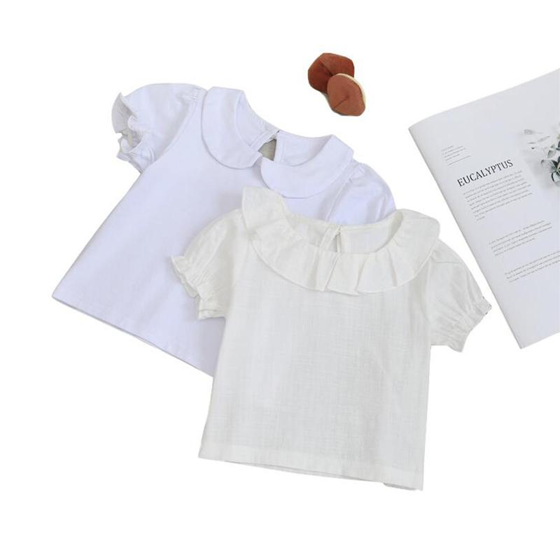 Adorable newborn cotton short sleeve infant blouse summer kids shirt for girls clothes toddler baby clothing