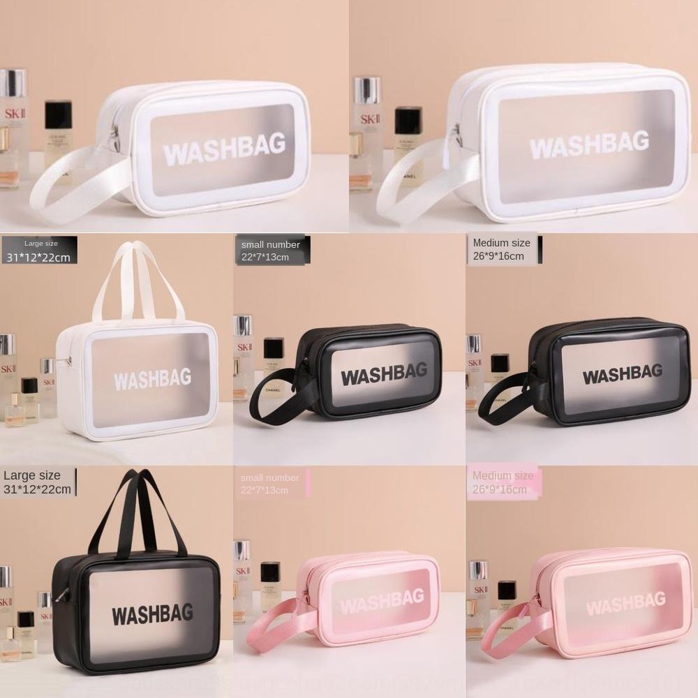 PVC cosmétiques de stockage portable étanche ins grand sac de lavage de Voyage portable de la capacité de stockage sac transparent imperméable à l'eau