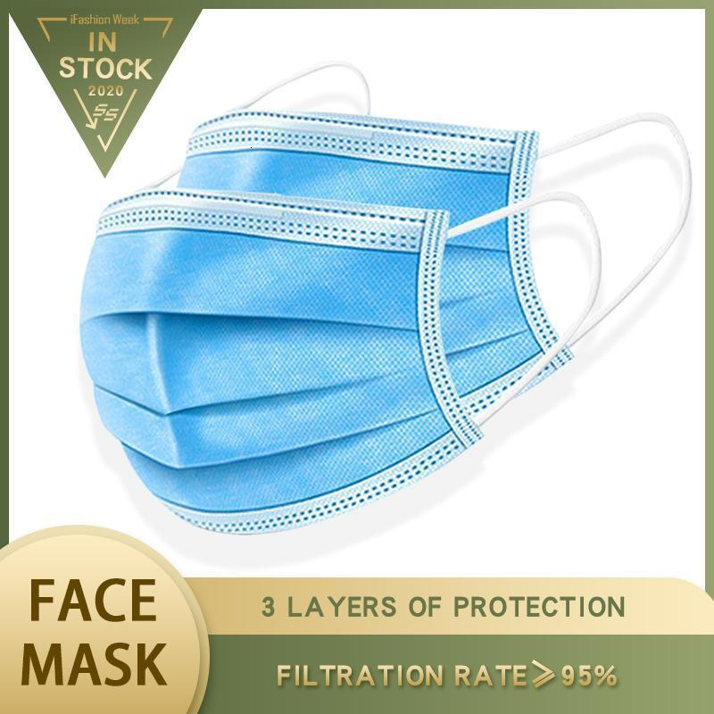 Freies Stunden Schiff! Verschiffen 12 7-15 Tage Einweg-Gesichtsmasken 3-Schicht-Antistaub-Breathable Gesichtsmaske Männer und Frauen Maske