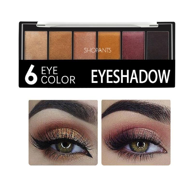 Eye Shadow 6 Цветов Гламурный Смокистый Цвет Вецлайна Палитра Шиммер Блэктер Главная Сливочный порошок Сомебра Макияж
