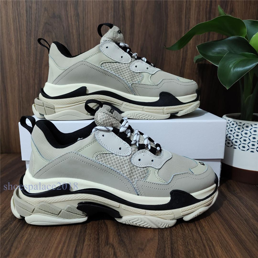باريس 17W رخيصة أحذية الرجال عارضة الخصم مريح الثلاثي S عارضة أحذية على الموضة للنساء الرياضة رياضية حذاء المشي في الهواء الطلق الأحذية