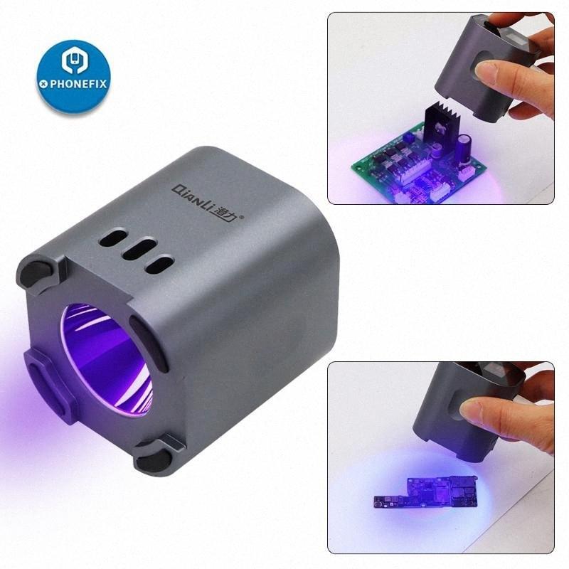 Qianli UV lights inteligente verdes aceite púrpura 3S Luz rápida del pegamento adhesivo de curado para el teléfono Placa base Reparación LCD Lámpara IUV w3VE #