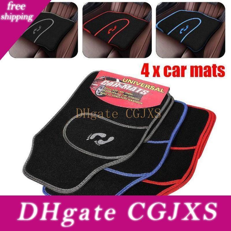 Hot 4 pc / lotto Universal Car Tappetini Moquette non -slip Grip Piedi modello All Weather Mat