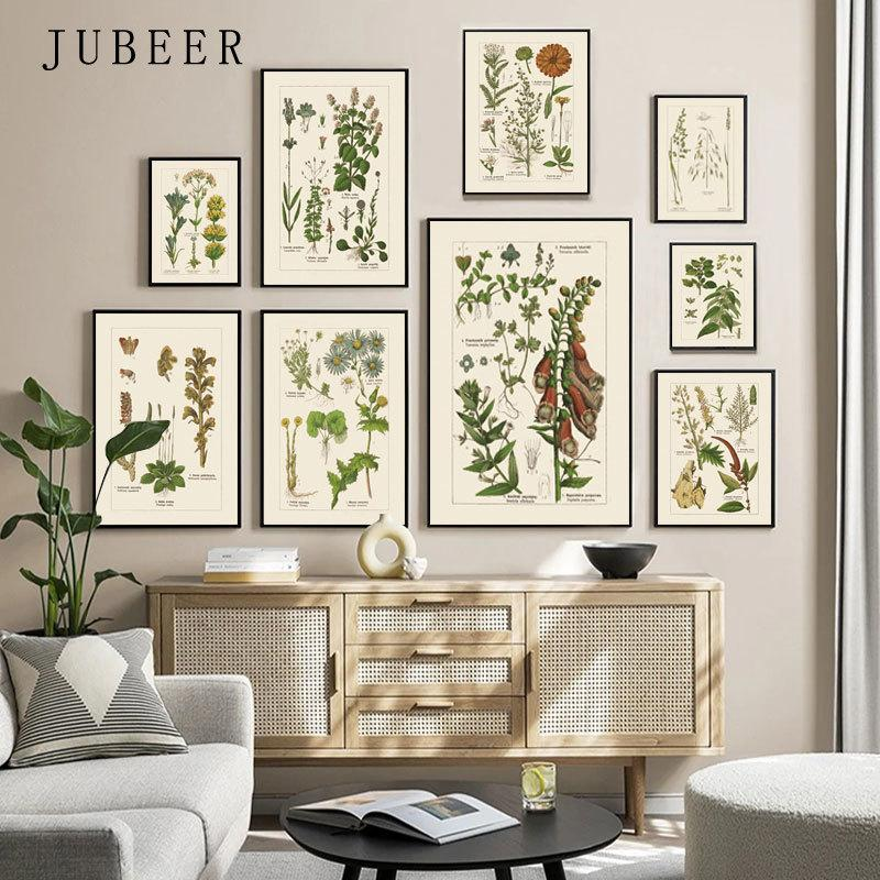 Plant Posters and Prints Flower Grass Paintings on The Wall Poster Vintage Decoration Pictures for Living Room Wall Painting Art