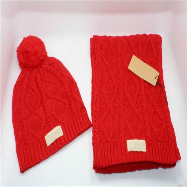 Топ качество Рождество шляпу горячий бренд РГД мужчин и женщин зимы вязание крючком шарфы наборы шапка теплая зимняя шапка шапка шапки шарфы наборы