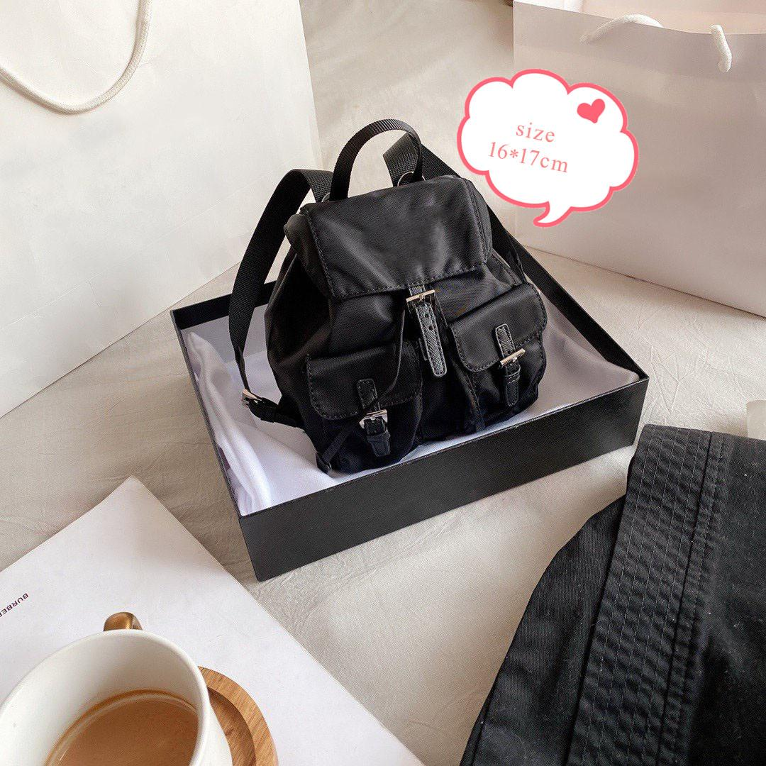 2020 الأزياء حقيبة الظهر نساء حقائب الكتف سلسلة CROSSBODY سيدة مدرسة حقائب تحمل على الظهر حقيبة نايلون Gilrl البسيطة حقائب لطيف مع صندوق