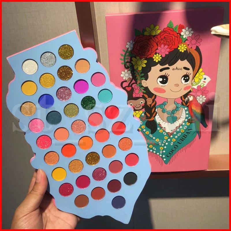 New Eyes Coco Urban Meet Beauty Girls 42 Colors Matte Eyeshadow & Blush Palette Eye Shadow shimmer Eyeshadow Palette