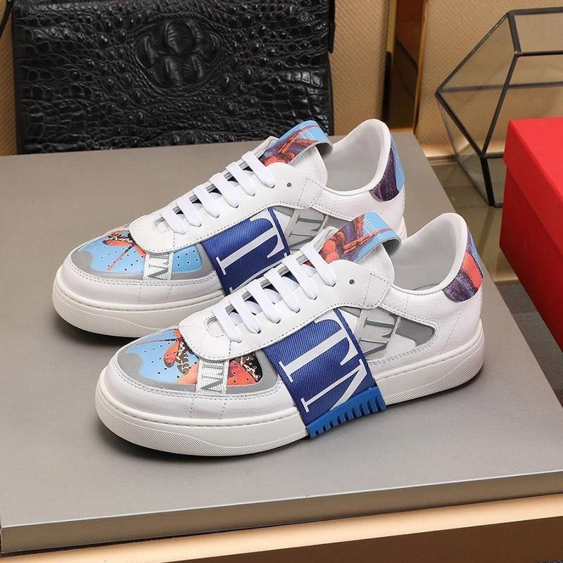 2020 C11-Qualitäts-Männer Klassische beiläufige Schuh-Leder-Lace-up Mode Luxus-Designer-Schuhe Handsome Mens Sneakers Original Kasten