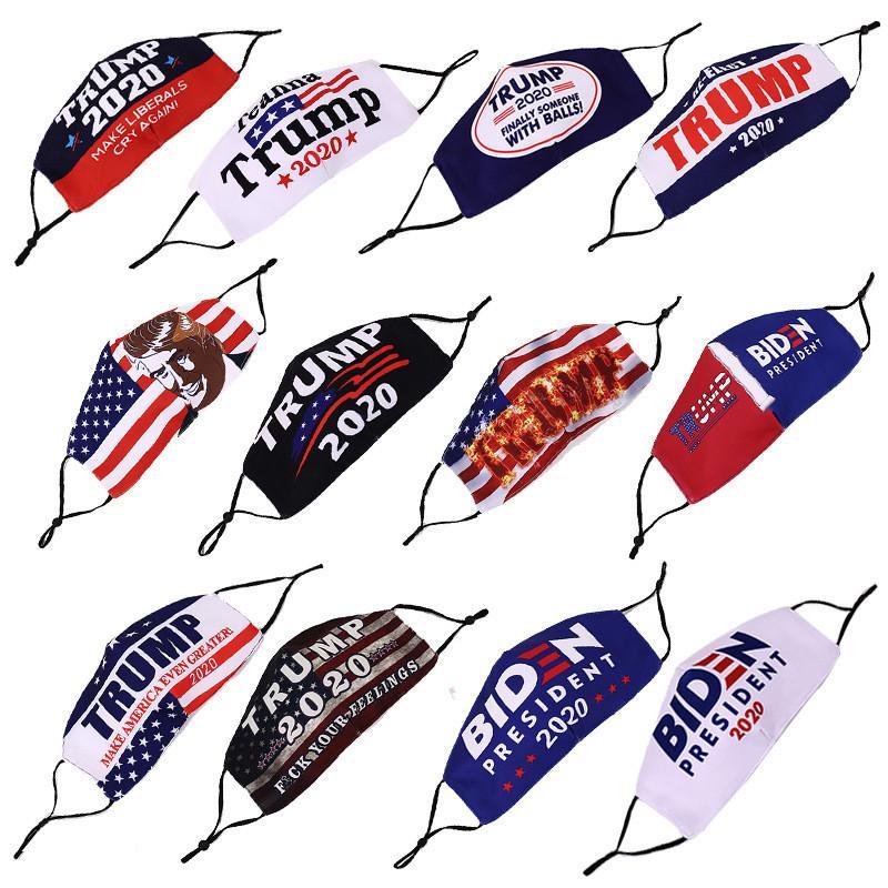 Máscara facial Trump Joe Biden Elección Suministros de América Máscaras presidente de Estados Unidos Elección prueba de polvo reutilizable de protección de DHL Shipp LJJA1014