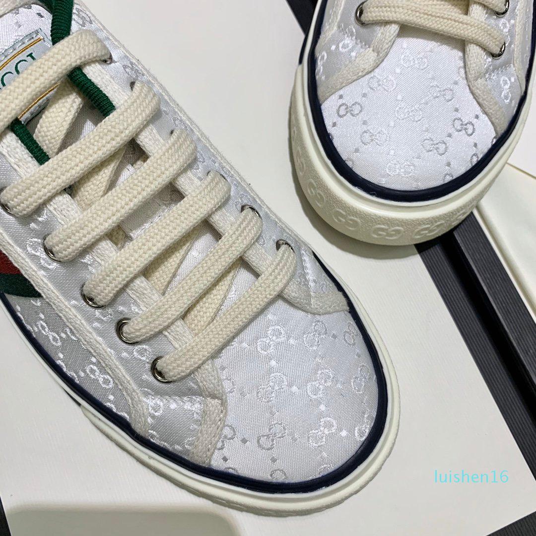2020 femmes des hommes chauds Designer Tennis 1977 avec Sneaker Web vert et rouge en coton chaussures de marque Trainer Casual Luxury Fashion pour NEM2 L16