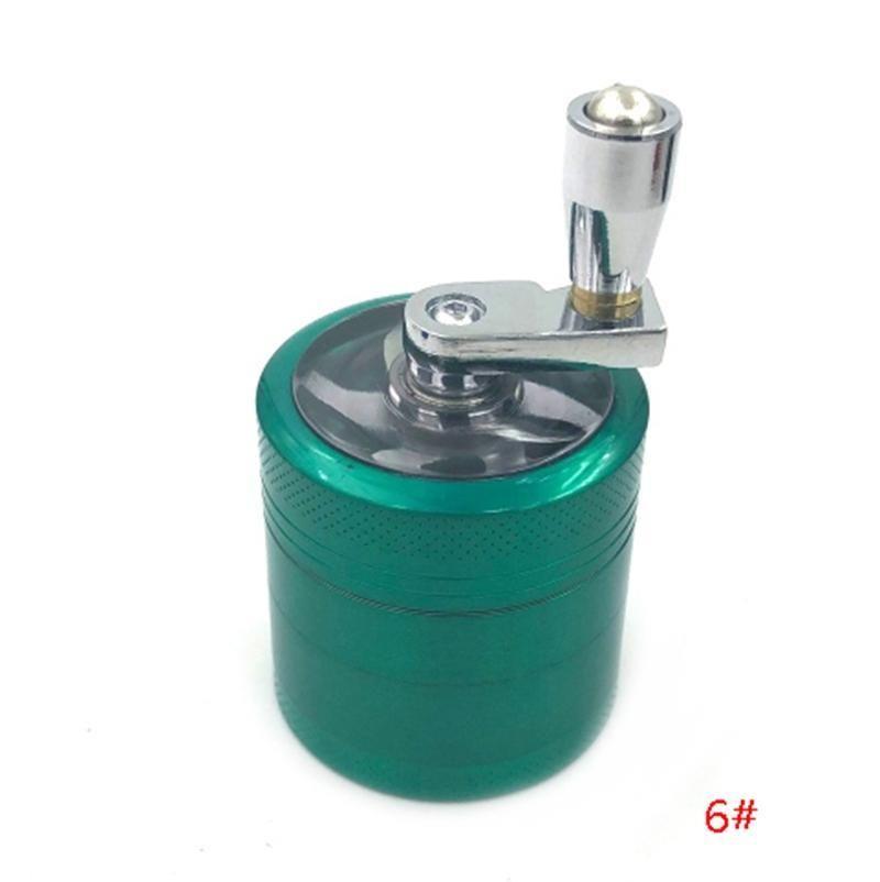 Crank mão Tobacco Herb Grinder 4 camadas de liga de zinco Grinders Herb Cigarette Smoking Spice Crusher Com Handle Sharpstone Grinders DBC BH3150
