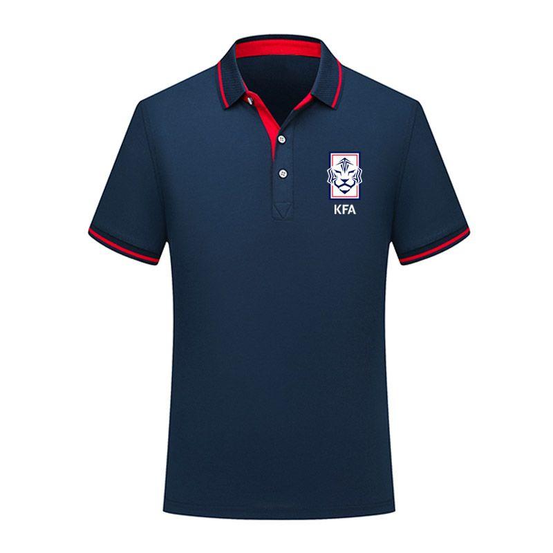 2020 Корея сборная мужчин футбол рубашка-поло с коротким рукавом футбола Polos Мода Спорт обучение Polos Футбол футбол T-Шир