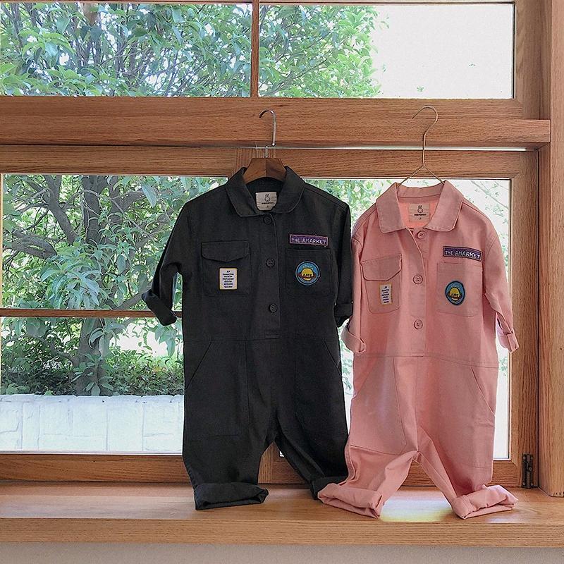 2020 2020 neue Art-Mädchen Junge Baumwolle Overall Herbst-Baby-lange Hosen-1 7 Jahre 2ojF #