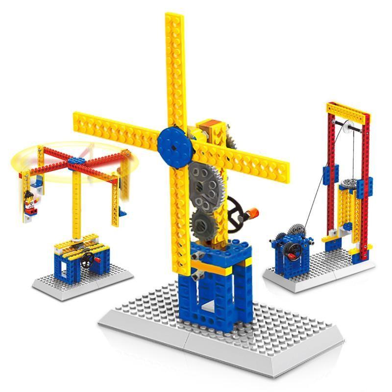 Интересные строительные машины серии строительных блоков мелких частиц творческие головоломки блоки мальчиков и девочек, сборочные игрушки