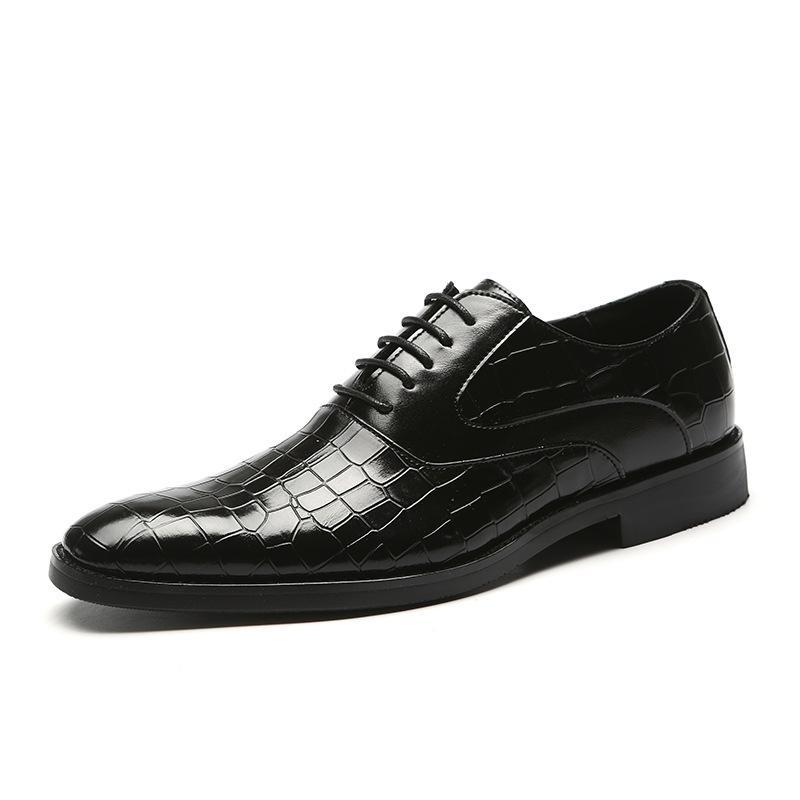 2020 formal dos homens padrão de couro de crocodilo toe sapatos de bico fino calçados casuais Office Party Oxford Plataforma Homens Zapatos de hombre
