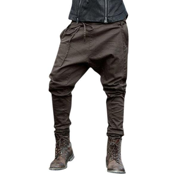 E-Baihui 2020 европейских и американских новый стиль мужские брюки мужские сплошной цвет шнуровке Брюки Повседневный большие ноги брюки F98046