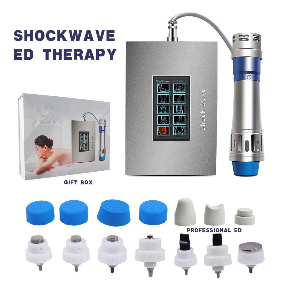 최신 터치 스크린 Shockwave 치료 기계 충격파 물리 치료 기계 가정용 치료를위한 치료를위한
