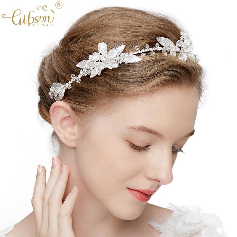 Yıldönümü headpieces Altın Gümüş Renk hairbands Kristal Gelin Bantlar Saç Vine Balo Halo Düğün Saç Aksesuarları