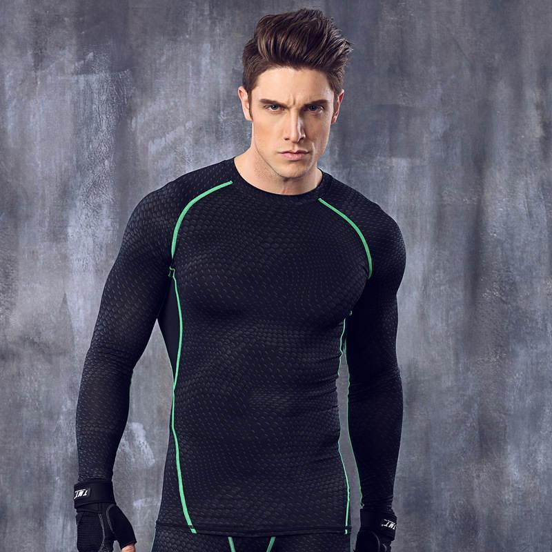 Nuevo diseño de marca de hombres de la aptitud Culturismo deportes corrientes favorable camisa transpirable de secado rápido flexible del gimnasio del deporte SpiderWeb Camisa