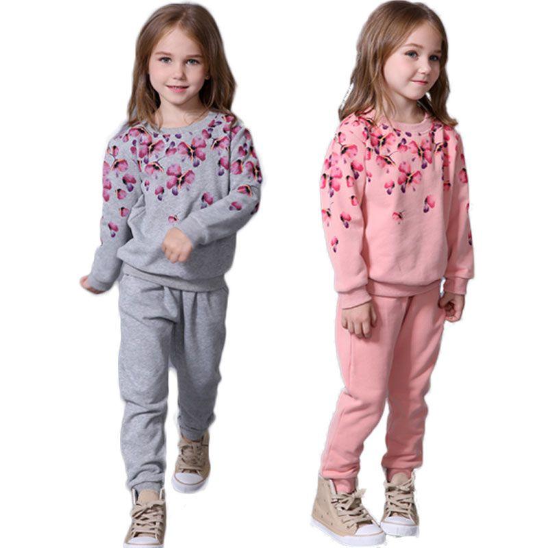 Mädchen Kleidung Set Blumenkindersport-Anzug Langarm-Klagen für Mädchen Anzug Kleinkind-Kleidung Sets Kinder Schuluniform