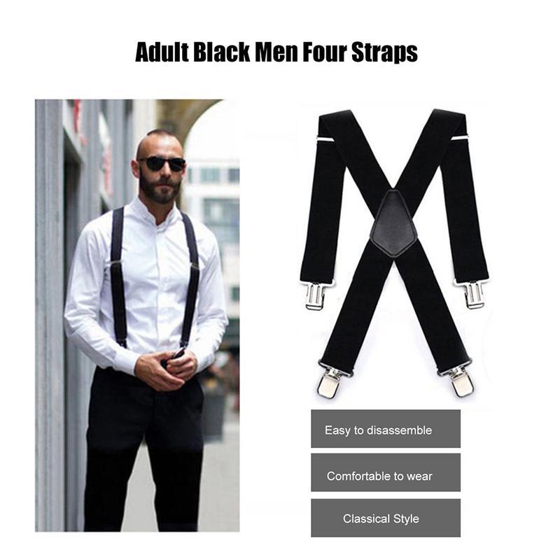 Nouvelle aviation pour hommes pantalons pour hommes Vintage Suspenders Suspenders 4 clip Strap bretelles pour homme soldes Pantalons Pantalons Suspenders Bretels Mannen