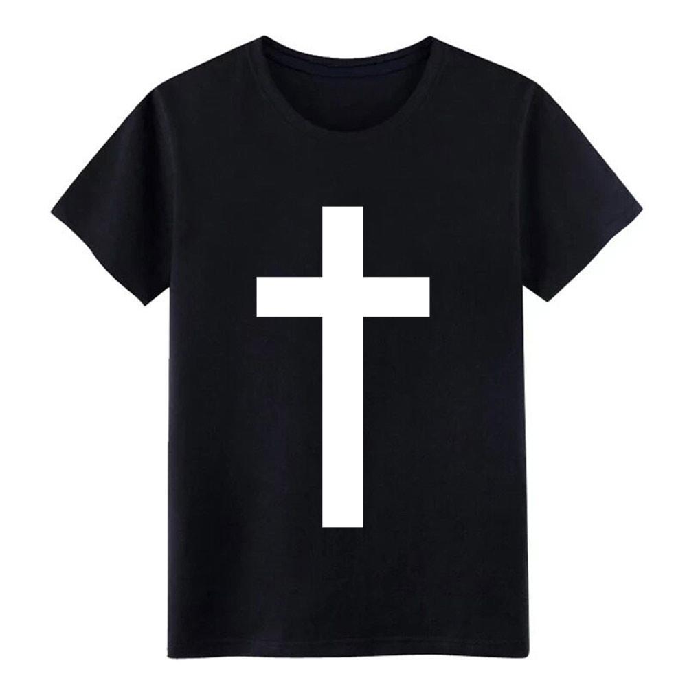 una semplice croce uomini della maglietta stampata tee shirt Euro formato s-3xl Unico Carino traspirante estate Magliette standard