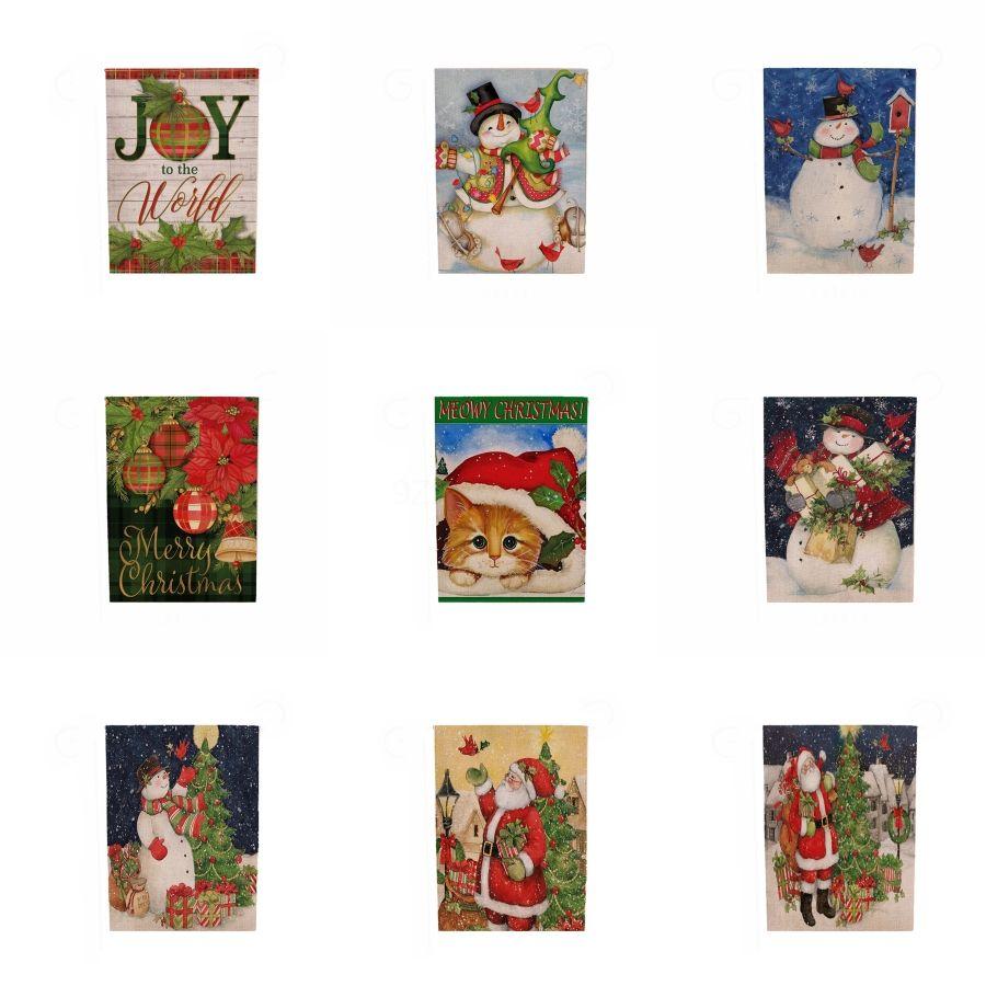 Noel Süsleri Pamuk Keten Nakış Çiçekler Baskı Tablo Bayrak doğum günü partisi Noel Masa # 900 Malzemeleri