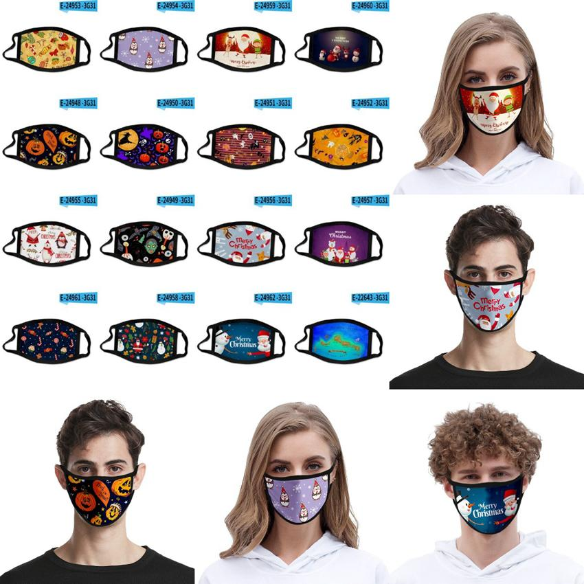 Mode 3D Christmas Gesichtsmasken Erwachsene Kinder-Halloween-Party-Masken-Antistaub wiederverwendbare waschbarer Mundschutz Weihnachten Gesichtsmasken CYZ2673 500Pcs