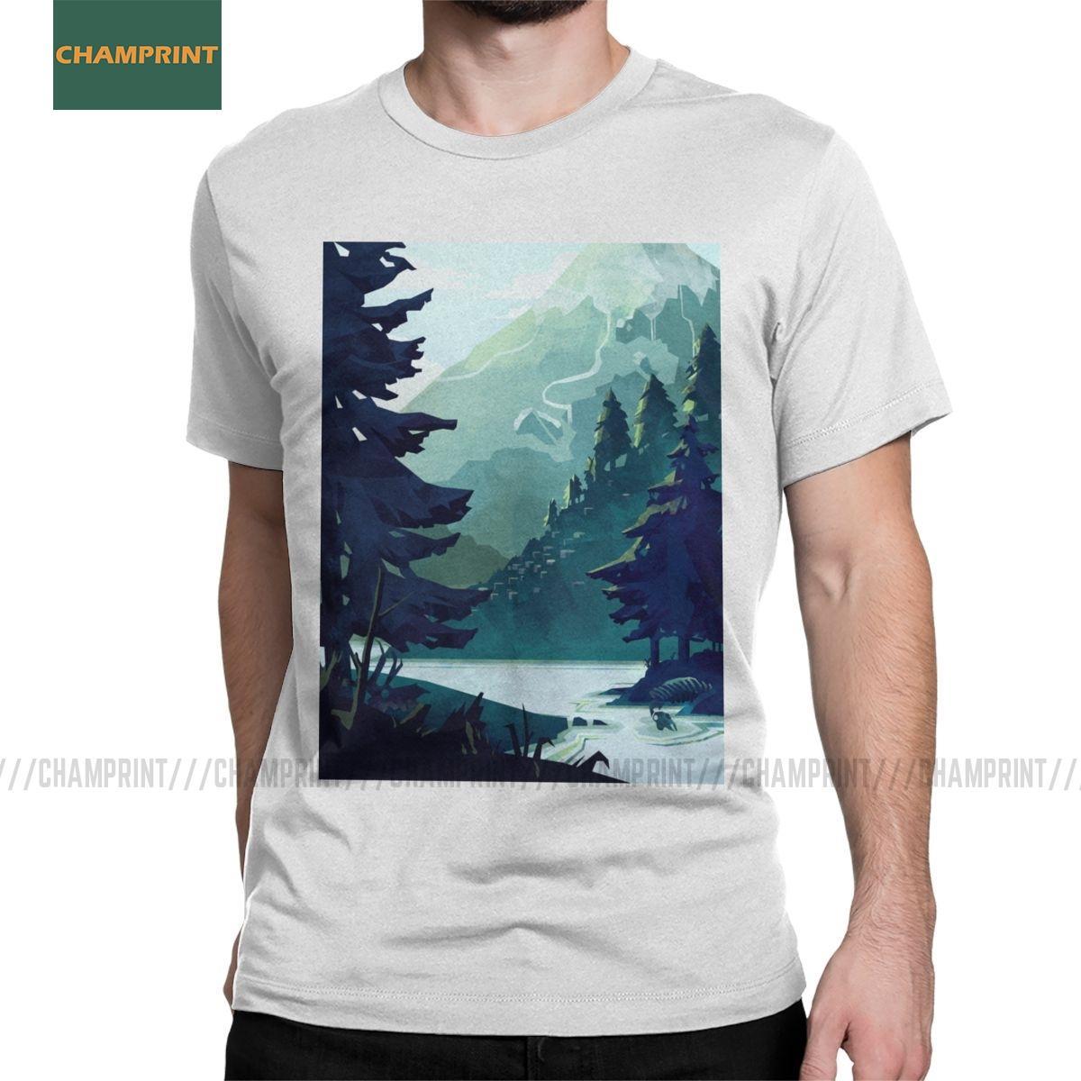 Männer T-Shirts Canadian Mountain Wild Life Kühle Baumwolle Tees Short Sleeve Erde Save Planet Bäume Reise Wald Shirts in Übergrößen