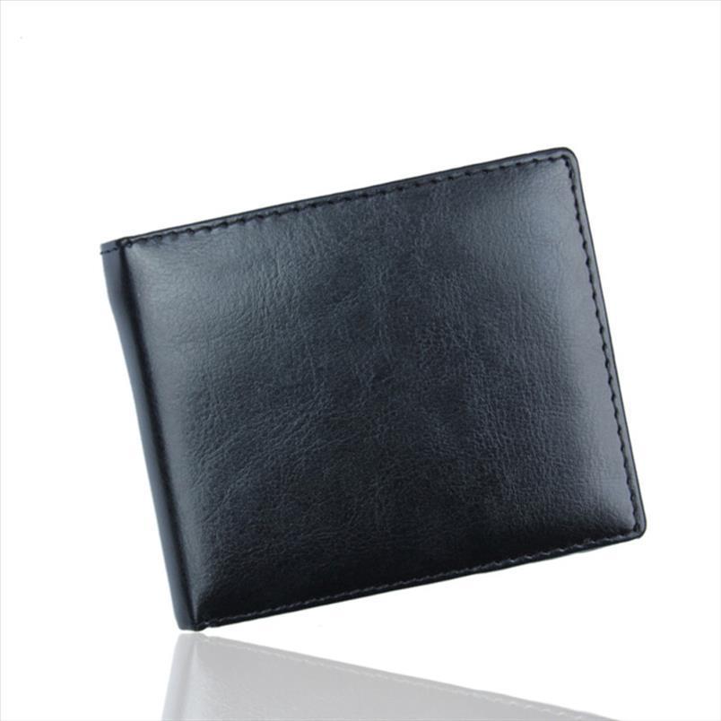 Nouvelle marque de mode Hommes d'affaires Bifold Portefeuille en cuir de haute qualité ID carte de crédit Porte-court petit sac bourse de poche billetera S