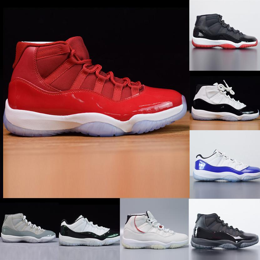Nueva Bred 11 Concord 45 zapatos de baloncesto Platinum Tinte Gamma gimnasio de deportes rojo zapatillas de deporte de Jumpman 11 Space Jam Concord 23 Hombres Mujeres Zapatos
