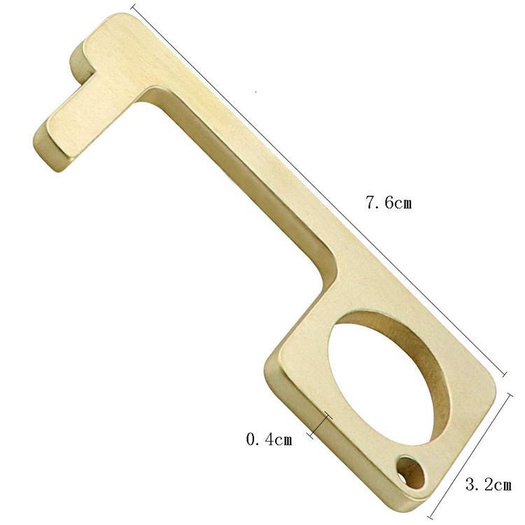 Messing Türöffners Schlüsselbund und Messing / Zink berührungslosen Türöffners Schlüsselanhänger