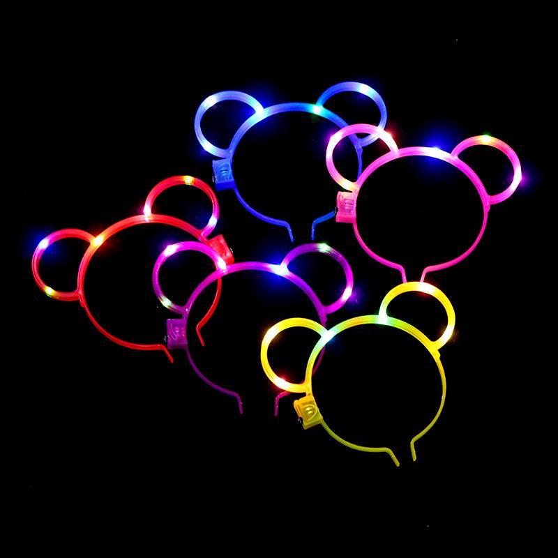 New light hair clips luminous night market hair band flash kid's toys rabbit ears LED flash