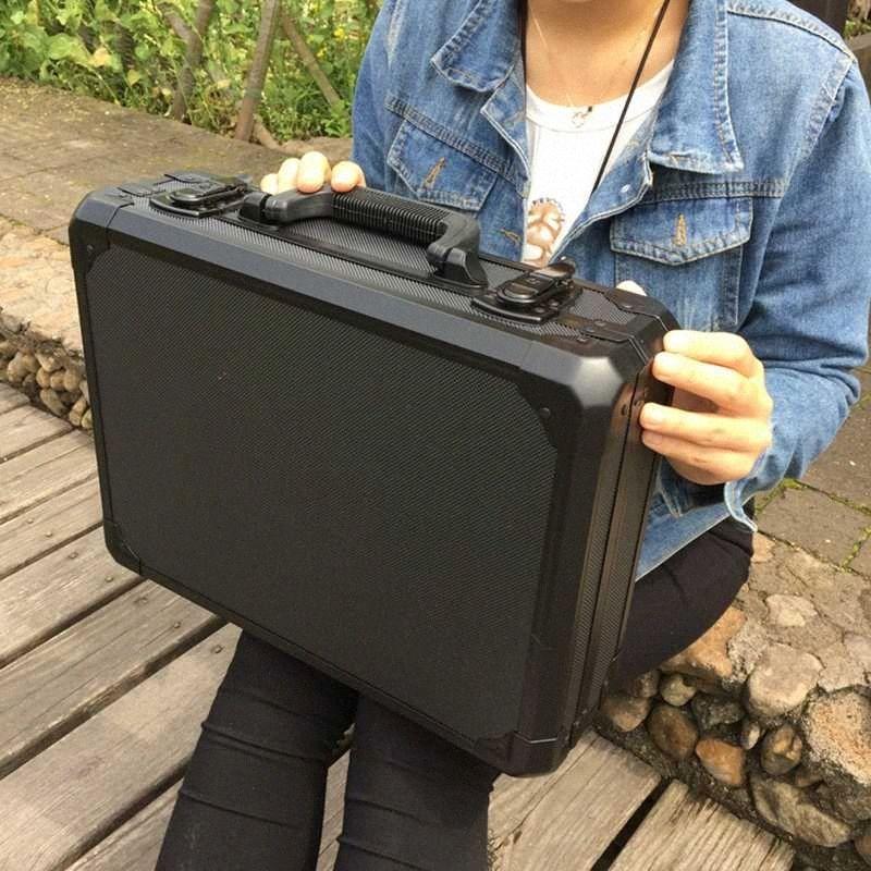 Алюминиевый ящик для инструмента случае чемодан инструментов Файла Ударопрочной безопасности случае оборудование камеры с пеной подкладка UfR1 #