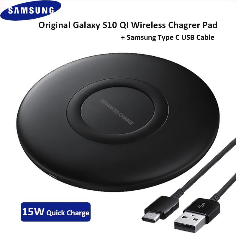 SAMSUNG EP-P1100 Carregador sem fio QI carregamento rápido desktop Pad Para Galaxy S20 S10 S9 S8 Além disso S7 Nota 10+ Iphone X 11 Pro Max