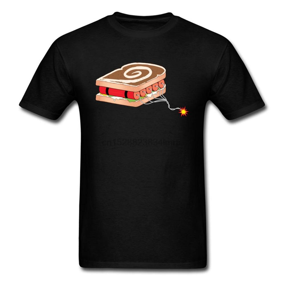 La dinamita Sandwich ocasional linda camiseta con cuello redondo de todo el algodón joven remata la camisa de manga corta Verano Otoño camisa Vestimenta informal
