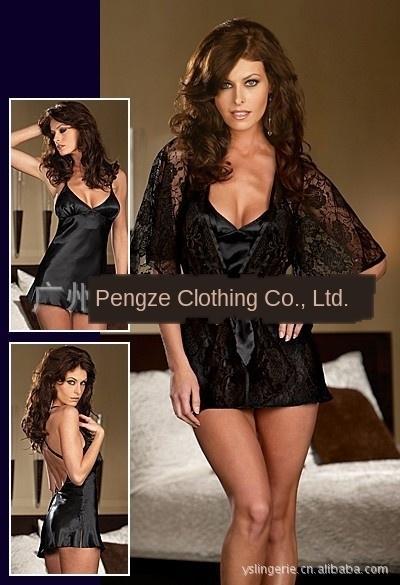 Black-Unterwäsche hot-Verkauf Pyjamas sexy 2015 Unterwäsche Nachthemd Anzug sexy Frühling und Sommer neue Art und Weise Pyjamas Nachthemd LbHWk