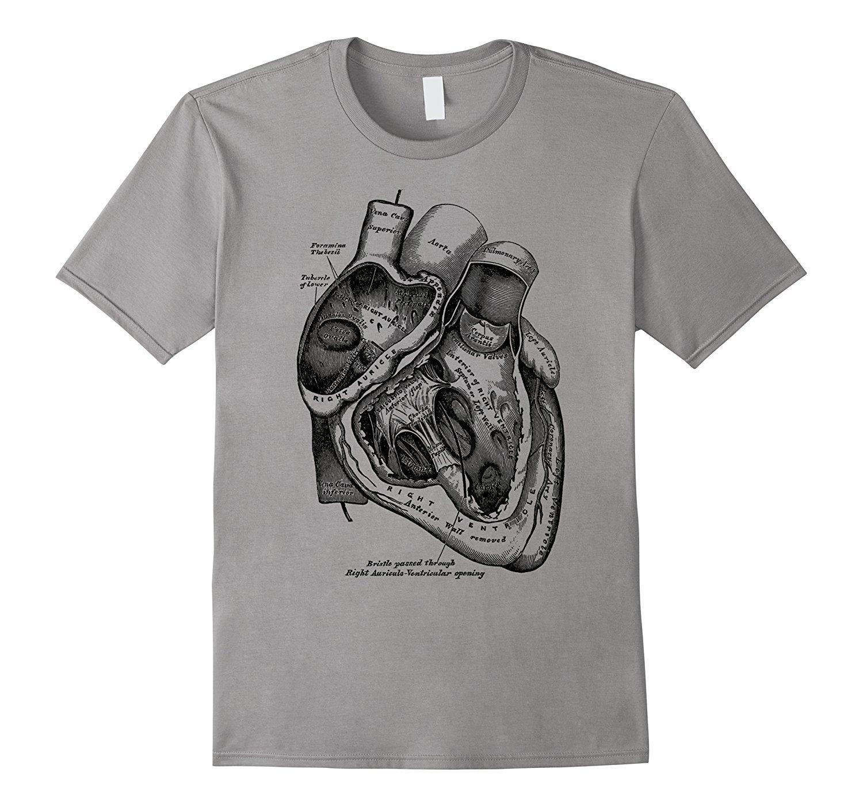 2020 Yeni Kısa Kollu Casual Anatomik Kalp Tişört Tıp Anatomi İllüstrasyon Yaz Casual Man Tişörtlü İyi Kalite